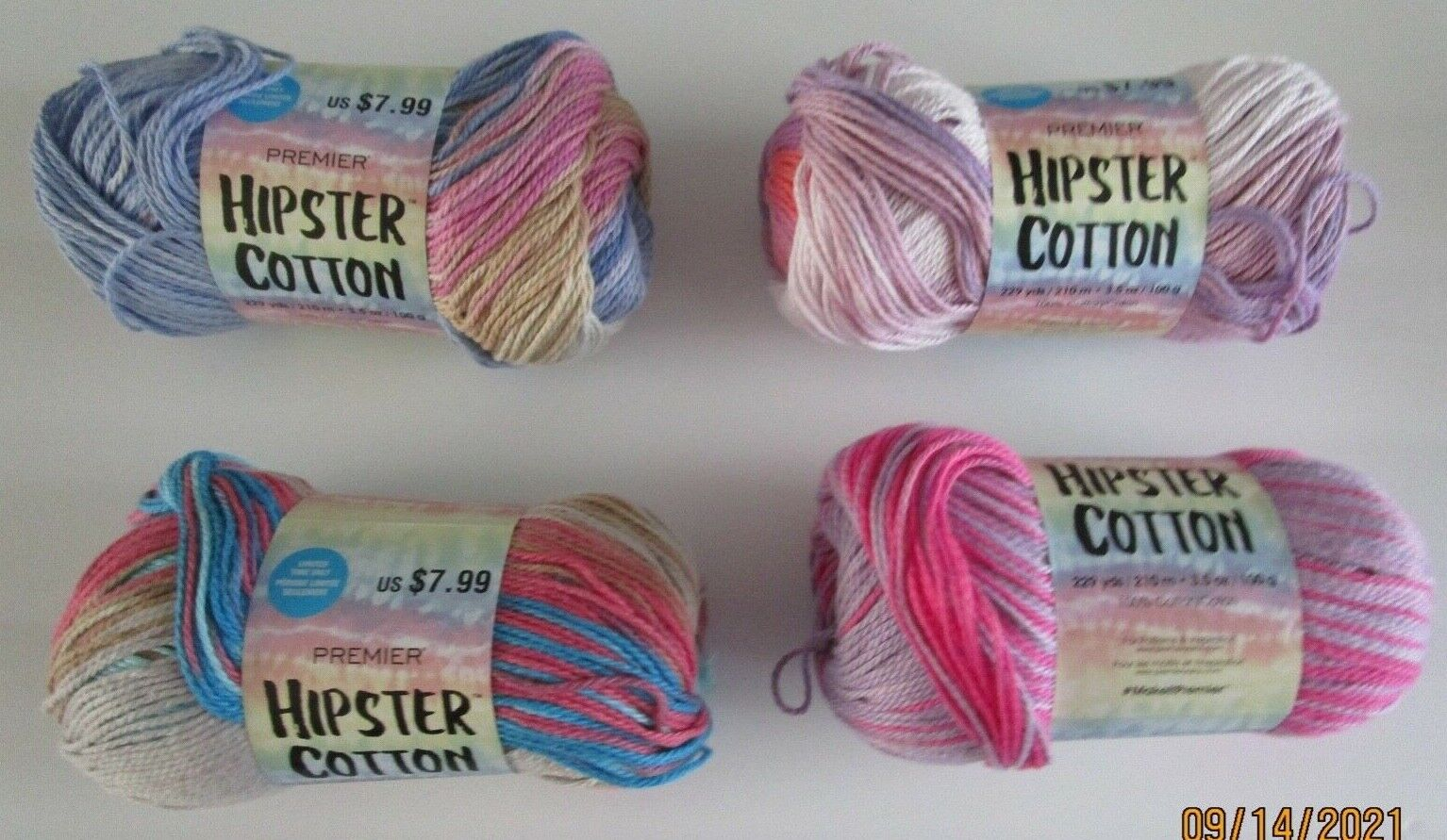 PREMIER HIPSTER COTTON..4 COLORS TO CHOOSE FROM - $5.75
