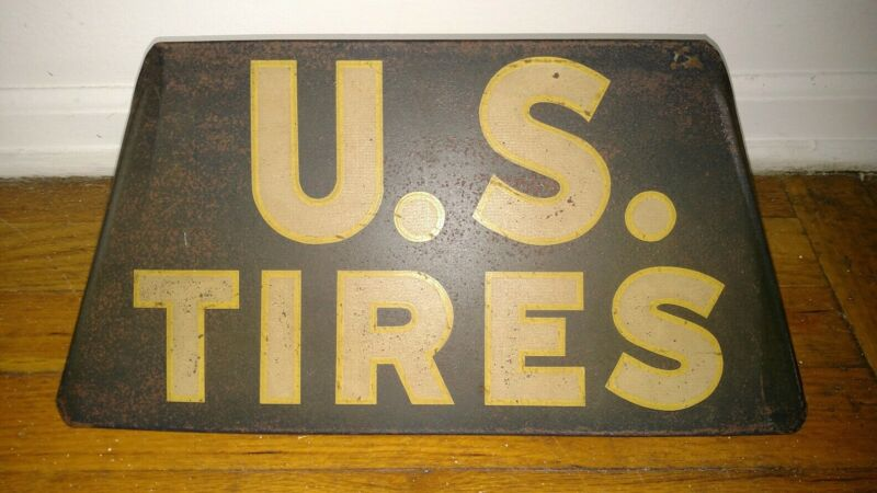 Antique advertising store display U.S Tires metal sign