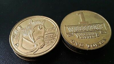 Yorkshire Bitter - Webster's Yorkshire Bitter Value 1 Token Horse Good Condition - 24mm Diameter