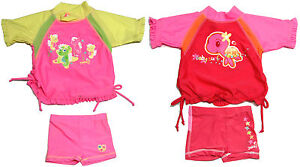 Girls-Rash-Top-Pant-Set-Size-00-0-1-Rashie-Swim-Yabby-Bathers-New