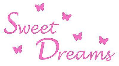 lies Wall Art, Boys/Girls Bedroom,Custom Vinyl Sticker (Sweet Dream Girls)