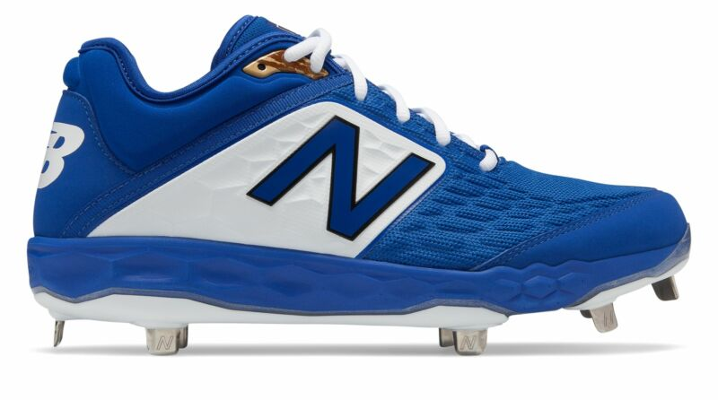 New Balance Low-Cut 3000v4 Metal Baseball Cleat Mens Shoes Blue with White Size