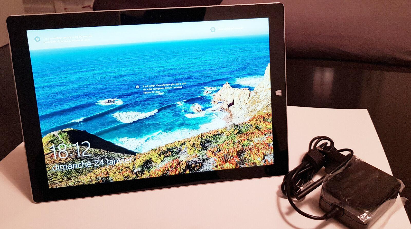 Tablette microsoft surface pro 3 modèle 1631 core i3-4020y 1.50ghz 4gb ram