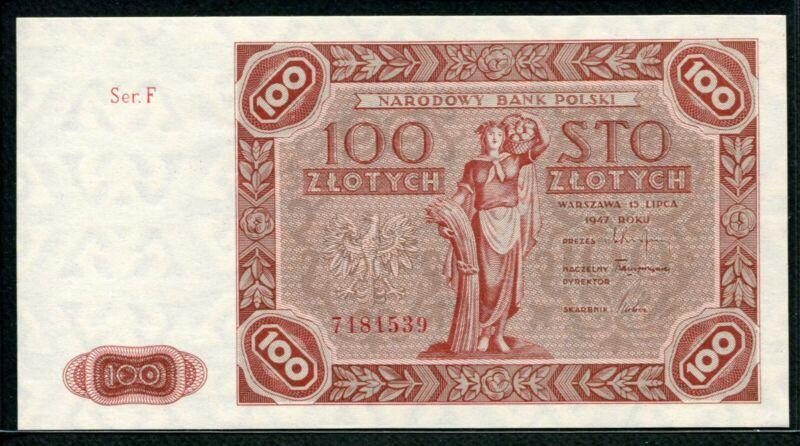 Poland 1947, 100 Zlotych, P131a, GEM UNC
