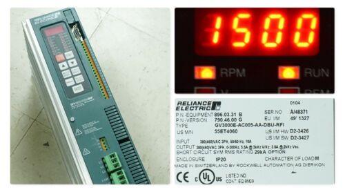RELIANCE GV3000E-AC005-AA-DBU 55ET4060 AC DRIVE 380/460VAC TESTED GOOD