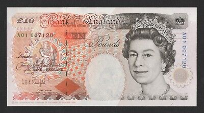 Kentfield £10 Dickens Ten Pound Banknote A01 Low Number B366 Crown Top Right