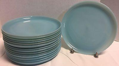 "1950's Fire King FireKing*Turquoise Blue* 9"" Dinner Plates*  16308P"