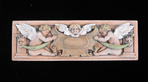 CHERUB  PUTTI   FLORAL  GARDEN   ARTS & CRAFTS GOTHIC ELLISON TILE