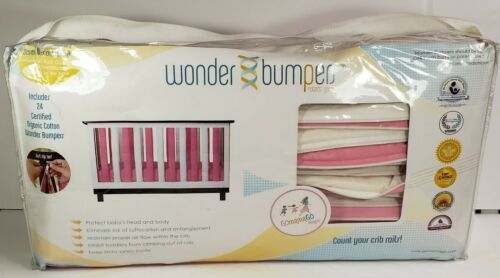 Go Mama Go Wonder Bumper Pink & White Reversible 24 Zip On Cotton Bumpers