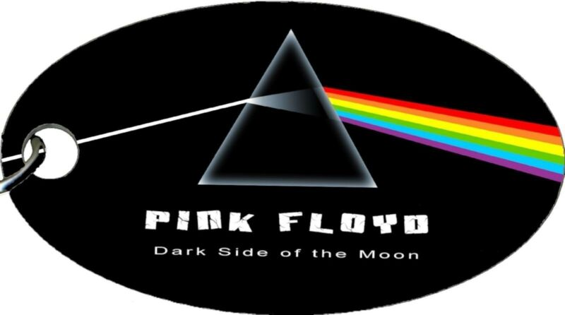Pink Floyd Dark Side of the Moon Aluminum Oval Keychain Key Chain NEW COOL!