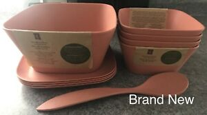 PC Bamboo Fibre Dishware Brand New Never Used