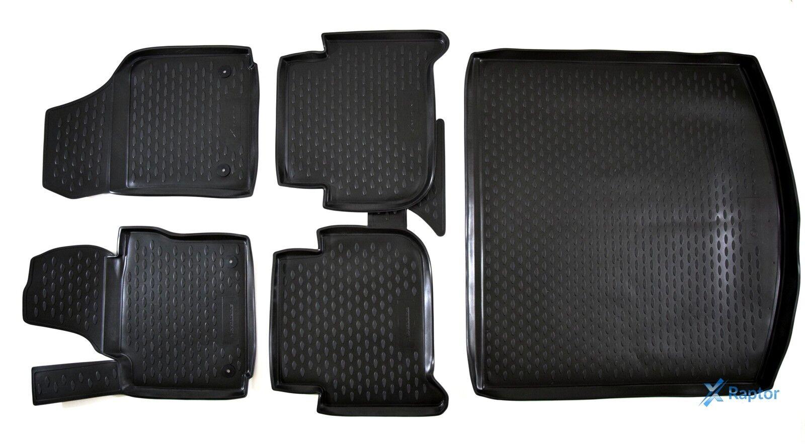 Kofferraumwanne SET 5 teilig für VW Touran 1T ab Bj.2003 bis 2015 Gummimatten