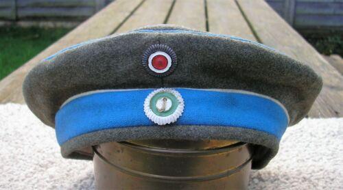WW1 GERMAN SAXON UHLAN REGT FELDMUTZE HAT CAP DATED 1917 ORIGINAL Super