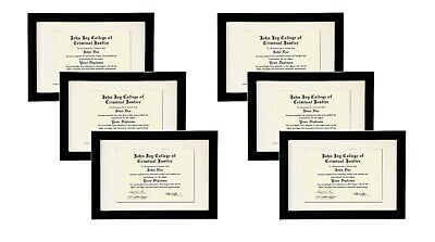 STUDIO 500 VALUE 6-PACK~11x17-inch Smooth Black Wide Contemporary Picture Frames