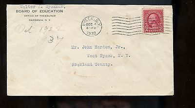 For sale US Mid-Atlantic Advertising Cover (Board of Education, Bardonia, NY) 1930 Nyack