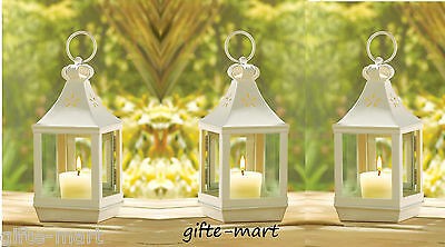 "10 mini white 7"" Candle holder Lantern Lamp light homogenizing table centerpiece"