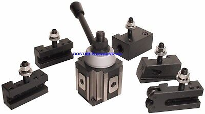 Axa Piston Type Quick Change Tool Post And Tool Holder Set For Lathe 6- 12