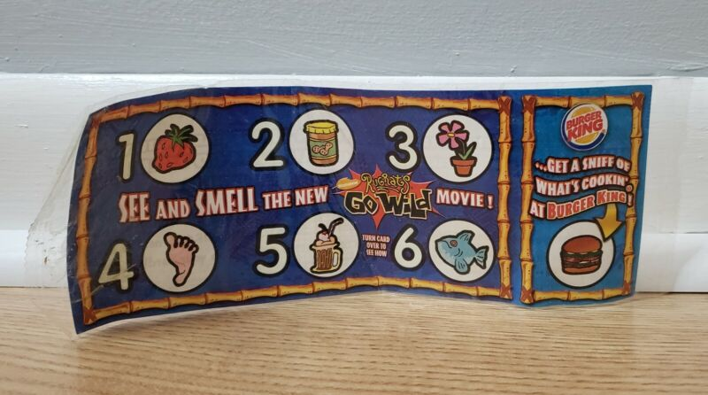 2003 Rugrats Go Wild Movie Scratch And Sniff Burger King *NEW*