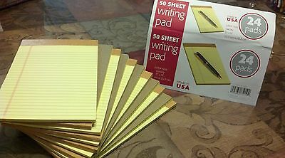 12 Writing Lot Pads Yellow 50 Sheet Each 5 X 8 Legal Rule
