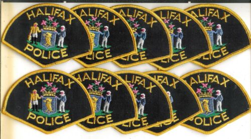 Lot of 10 Obsolete Halifax Police Service Patches
