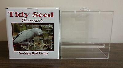 "TIDY SEED LARGE FEEDER - THE ORIGINAL ""NO-MESS"" BIRD FEEDER!"