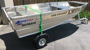 Quintrex F350 Outback Explorer w/ 15HP Suzuki DT15AS *AS NEW*