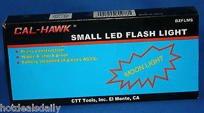 SMALL LED FLASH LIGHT HI POWERED LED BULB TAKES 4 AG13 BUTTON CEL BATTERIES ()