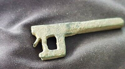 Lovely rare Roman bronze lock/key part. Please read description. L116m