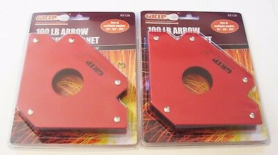 2 Grip Tools 100lb Arrow Welding Magnets Holder 100 Lb Strength 85128