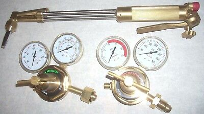 18 Cutting Torch Regulator Kit Lp Propane 90 Deg Head W Tip Size 1 Fits Harris