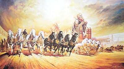 Renato Casaro Ben Hur Poster Kunstdruck Bild 75x138cm - Germanposters