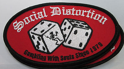 SOCIAL DISTORTION COLLECTABLE RARE VINTAGE PATCH EMBROIDED 2015 METAL LIVE