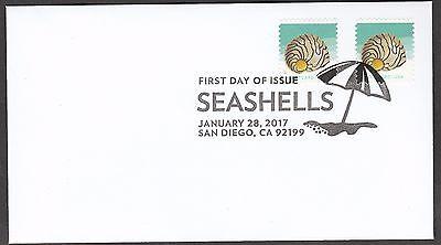 US 5166 SEASHELLS ZEBRA NERITE POSTCARD FDC 2017