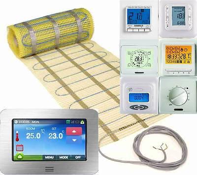 160 Watt pro m/² 16 m/² FOXYSHOP24-elektrische Fu/ßbodenheizung PREMIUM MARKE FOXYMAT.SL 2 x 8m/² mit Thermostat QM-BLUE-TS,Komplett-Set
