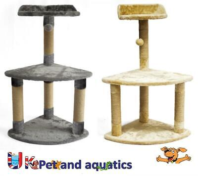 Grey LazyBones Cat Scratching Post With Bed 82cm High Grey or Beige