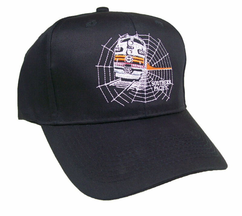 Southern Pacific Railroad Black Widow Embroidered Cap Hat #40-4840