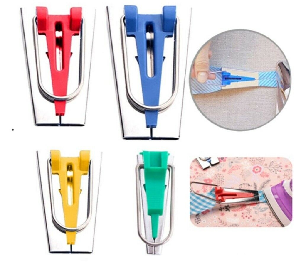 4 Pcs Sewing Bias Binding Tape Makers Kits Clips Awl Quilter's Quilting Tool  US Crafts