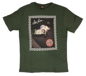 SANTA-CRUZ-Steve-Olson-Skate-Camiseta-Aire-De-La-Piscina-Retro-Skate-T