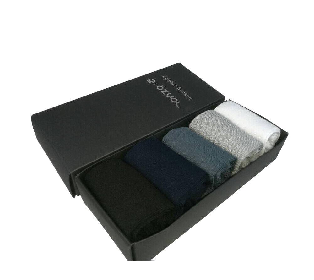 Business Socken Bambus Damen Herren Schwarz Weiß Farbig 5 Paar Männer Frauen