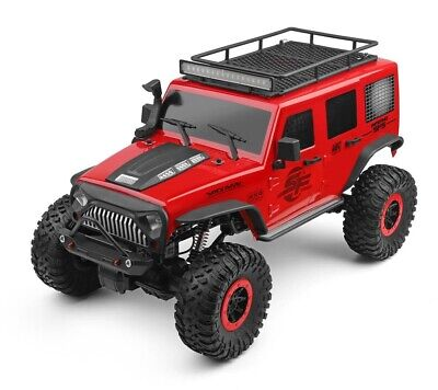 1:10 Rock Crawler RC Truck 4WD 2.4GHz Remote Control RTR with Lights Red