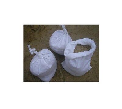 25pcs 40 x 60cm White Woven Polypropylene Sandbags Sacks Flood Defence Sand Bags