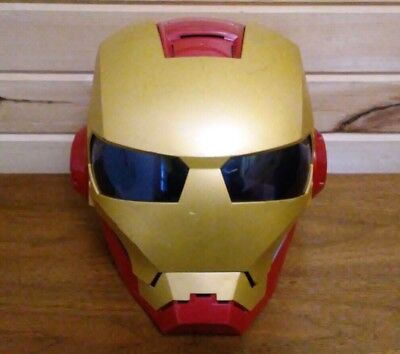 Iron Man 2010 Talking Mask Helmet Marvel Hasbro Costume Lights Up Makes Sounds