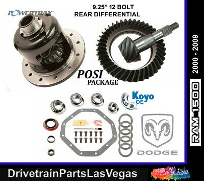 Dodge Ram 1500 9.25 4.10 Ratio Posi Pkg Powertrax Ring Pinion Master 2000 2009