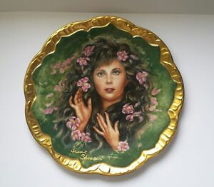 Artist Irene Spencer AUTOGRAPHED! Symphony Of Roses WILD IRISH ROSE Plate