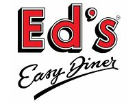 Grill Chef Eds Easy Diner Metro Centre-IMMEDIATE START-Full-Time/Part-Time–Competitive pay plus tips