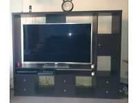 Ikea black/brown TV display unit