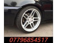 19 inch Genuine AC Schnitzer Type 3 Alloy Wheels & Tyres - bmw alloys e39 e38 e60 6 series 5 series