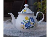 Lovely White and Floral Tea Pot