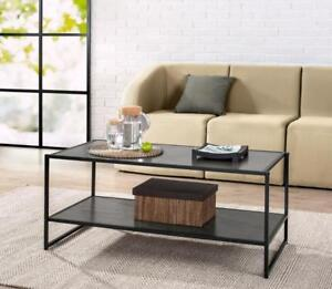 New Zinus Modern Studio Collection Deluxe Rectangular Coffee Table, Espresso (Pick-up Only) - DI5