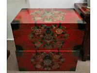 Tibetan style floral trunk